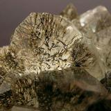 Quartz with Goethite Tizirine, Tizi n'Tichka, Ouarzazate  Morocco Main crystal size: 1.8 × 1.3 cm. (Author: Jordi Fabre)