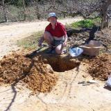 You want quartz, you have to dig.  Villiersdorp. (Author: Pierre Joubert)