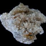 """Celestina Concesión nº 15879 """"Minerama II"""", Urbanización """"Puente Tablas"""", Jaén, Andalucía, España Pieza; 10x7,4cm. Cristales mayores; 1,1cm Agregados de cristales biterminados. (Autor: DAni)"""