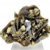 Chalcopyrite, siderite Kaiwu Mine, Hezhang, Bijie, Guizhou, China 95 mm x 78 mm (Author: Carles Millan)