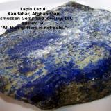 Lapis Lazuli Kandahar, Afghanistan 15 cm x 15 cm x 1.5 cm  (Author: gemlover)
