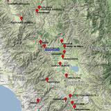 _Posición geográfica de la mina Uchucchacua  Para quien pueda estar interesado, el mapa completo se encuentra disponible en http://carlesmillan.cat/min/CPeru.png (Autor: Carles Millan)