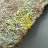 Uranophane-B with Mixite Rabéjac, Hérault, Central Massif, France. 15*10 mm  (Author: Benj)