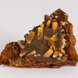 Wulfenita Mina Ojuela, Mapimí, Durango, México 7x5 cm (Autor: victor chaul chamut)