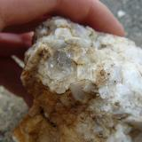 glass fluorite in white massive fluorite... 11*10 mm (Author: Benj)