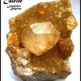 Calcite La Sambre Quarry, Landelies, Hainaut Province, Belgium Specimen height 7 cm (Author: Tobi)