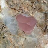 Fluorapatite, aquamarine and muscovite Shigar Valley, Gilgit, Pakistan 1.9 cm (Author: Mark Ost)