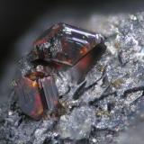 Xanthoconite Las Cruces mine, Gerena, Seville, Andalusia, Spain FOV 1 mm (Author: Cesar M. Salvan)
