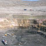 Las Cruces mine, Gerena, Seville, Spain Las Cruces open pit in 2010 (Author: Cesar M. Salvan)