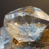 Cuarzo Herkimer T. Mount. Diamond, Litle Falls, Herkimer Co., New York, USA 5 x 5 cm.  Detalle (Autor: javier ruiz martin)