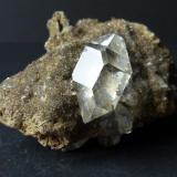 Cuarzo Herkimer T. Mount. Diamond, Litle Falls, Herkimer Co., New York, USA 5 x 5 cm. (Autor: javier ruiz martin)