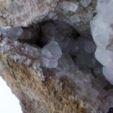 Calcita Mina de San Salvador/Aldea Moret, Cáceres, Extremadura, España 7 x 7 cm. (cristal mayor de unos 8 mm.) (Autor: Antonio GG)