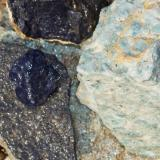 Dumortierite, Kyanite Imperial Co., California, USA dumortierite- 5 cm kyanite- 20 cm (Author: benchambers)