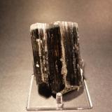 Tourmaline var Indicolite (Floater) Paprok Mine, Kamdesh District, Nuristan Province, Afghanistan 9.5 x 6.5 x 3.3 cm (Author: Don Lum)