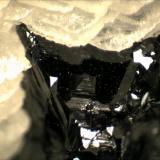 Sphalerite Boldut Mine, Cavnic, Maramures, Romania .3cm x .3cm x .3cm (Author: Mark Ost)