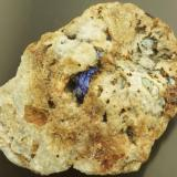 Linarite (ex Mick Sutcliffe). Red Gill, Caldbeck Fells, Cumbria, UK. 5 cm. (Author: Ru Smith)