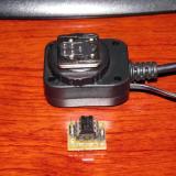 Conector TTL y plaquita con optoacoplador (Autor: Oscar Fernandez)