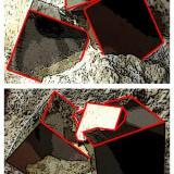 Pyrite Ampliación a Victoria Mine, Navajún, La Rioja, Spain 4 x 2 x 2 cm. Diagram showing cubic crystal faces and interconnections among them. (Author: supertxango)