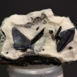 Benitoite, Neptunite Benitoite Gem Mine, San Benito, California, USA 3.9 x 2.4 cm (Author: Don Lum)