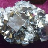 pyrite and quartz Tibles Mountains Romania about 8 cm (2 cm main crystals)  (Author: David)