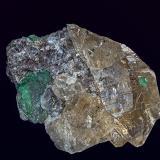 Beryl and Quartz (smoky) Rist Mine, Hiddenite, Alexander Co., North Carolina, USA 4.0 x 2.8 cm (Author: am mizunaka)