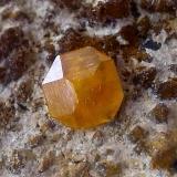 Wulfenita Albuñuelas, Granada, Andalucía, España 3 mm. aproximadamente (Autor: Cristalino)