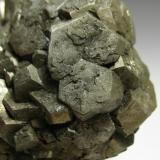 Pyrite Rennselaer Quarry, Pleasant Ridge, Jasper Co., Indiana, USA 9 x 7 x 5 cm Detail of the crystals (Author: Antonio Alcaide)