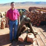 El Pozo Alnif de Mibladen. Abajo hay varios mineros trabajando (Autor: Gonzalo Garcia)