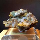 Adamite and Smithsonite Serpieri Mine, Kamaritza Mines, Attiki, Greece 5.5 cm x 3 cm  x 2.5 cm (Author: Mark Ost)
