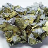 Chalcopyrite, Quartz, Calcite Qale-Zari Mine, South Khorasan Province, eastern Iran 15.1 cm in width (Author: vhairap)