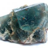 Fluorite Hesselbach Mine, Ödsbach, Oberkirch, Black Forest, Baden-Württemberg, Germany (closed in 1959!!!) Specimen width 9,5 cm, the main fluorite crystal measures 4 cm (Author: Tobi)
