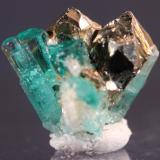 Beryl (var Emerald) Chivor Mine, Guavio-Guateque District, Boyaca Department, Colombia 17 x 14 mm (Author: Don Lum)