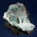 Calcite and Aurichalcite Helvetia area, Helvetia-Rosemont District, Santa Rita Mts., Pima County, Arizona, USA 96 x 62 mm (Author: GneissWare)