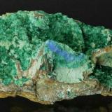 Brochantite and Cyanotrichite Grand View Mine, Horseshoe Mesa, Grand Canyon, Coconino County, Arizona, USA 105 x 60 x 53 mm (Author: GneissWare)