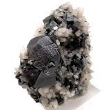 Cassiterite, quartz Viloco Mine, Araca, Loayza, La Paz, Bolivia 80 mm x 69 mm x 39 mm. Largest cassiterite crystal: 33 mm wide (Author: Carles Millan)
