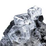 Fluorite, löllingite, magnetite Huanggang mine, Hexigten Banner, Keshiketeng, Ulanhad League, Chifeng, Inner Mongolia Autonomous Region, China  70 mm x 60 mm x 44 mm. Main fluorite crystal size: 18 mm high  Close-up (Author: Carles Millan)