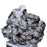 Fluorite, löllingite, magnetite Huanggang mine, Hexigten Banner, Keshiketeng, Ulanhad League, Chifeng, Inner Mongolia Autonomous Region, China  70 mm x 60 mm x 44 mm. Main fluorite crystal size: 18 mm high (Author: Carles Millan)