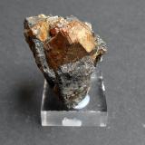 Pirita Minas de Cala, Cala, Huelva, Andalucía, España 4 x 3,5 x 3 cm Varios piritoedros deformados. El mayor mide 2 cm. (Autor: Antonio Alcaide)