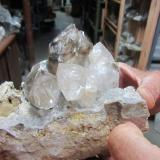 Quartz Fonda, Mohawk County, New York, USA Smokey and clear cluster to 13 cm. wide. (Author: vic rzonca)