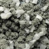 Dolomite, Pyrite, Calcite, Quartz Qale-Zari Mine, South Khorasan Province, eastern Iran FOV is 5 cm. (Author: vhairap)