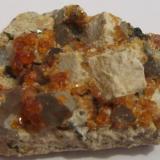 Spessartina (Espesartina) (Grupo Granate) China 6x5x2 cm (Autor: antoniopedro)