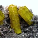 Ettringite N'Chwaning Mines, Kuruman, Kalahari manganese fields, Northern Cape Province, South Africa Largest crystal 1,5 cm, FOV 2 cm (Author: Tobi)