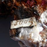 Cuprite var chalcotrichite Fowey Consols, Tywardreath, St. Austell, Cornwall, England, UK Talling number 2009 on side of specimen (Author: ian jones)