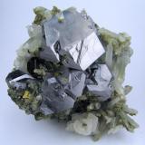 Galena, calcite, quartz Dal'negorsk, Primorskiy Kray, Far-Eastern Region, Russia 90 mm x 90 x mm x 50 mm (Author: Carles Millan)