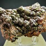 Vanadinita arsenical (variedad Endlichita) Touissit - Oujda-Angad -  Marruecos 10 x 6 cm (Autor: Diego Navarro)