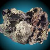Azurita Tsumeb, Namibia 12x8cm, cristales hasta 5cm (Autor: Raul Vancouver)