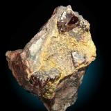 Cinabrio Mina Las Cuevas, Almadén, Ciudad Real, Castilla-La Mancha, España cristales de hasta 1cm de arista (Autor: Raul Vancouver)