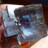 Fluorita Annabel Lee Mine, Harris Creek, Hardin, Illinois, USA 6 x 6 cm.  Otra vista de la misma pieza (Autor: javier ruiz martin)