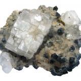 Fluorite, galena Naica Mine, Naica, Mun. de Saucillo, Chihuahua, Mexico Specimen size 7 cm (Author: Tobi)