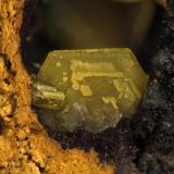Mimetita Filón sur, Tharsis, Huelva. Cristal de 1,88mm de ancho (Autor: Oscar Fernandez)
